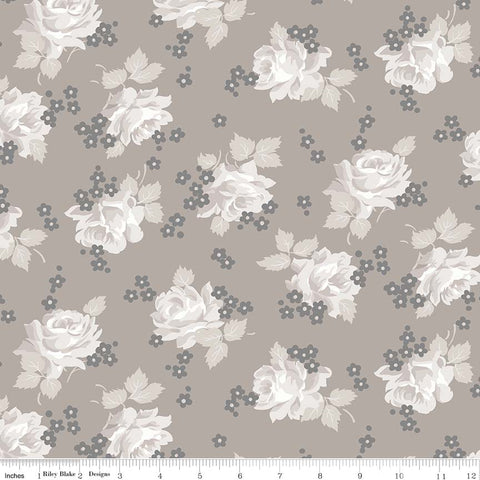 COMING SOON! Taupe Serenity Roses Print (C8811 Taupe)