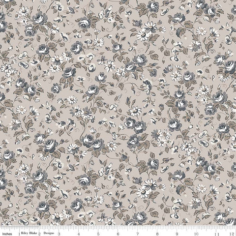 COMING SOON! Taupe Serenity Viney Roses Print (C8812 Taupe)
