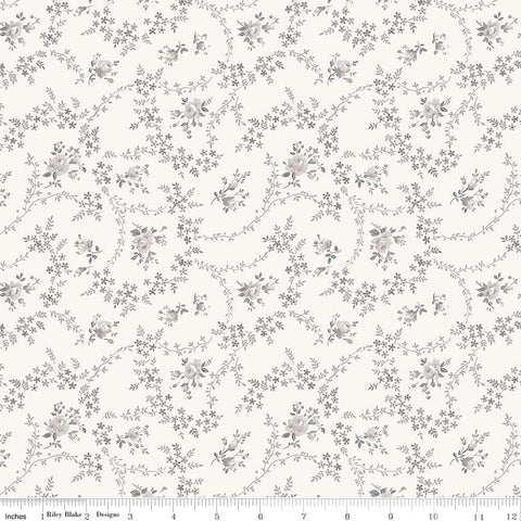 NEW! Cream Serenity Rose Bouquet Print (C8813 Cream)
