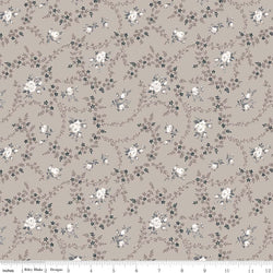 NEW! Taupe Serenity Rose Bouquet Print (C8813 Taupe)