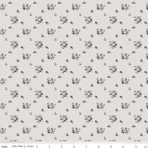 NEW! Light Gray Serenity Delicate Bouquet Print (C8814 LtGray)