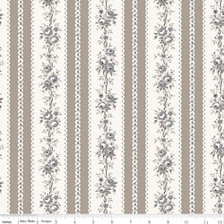NEW! Taupe Serenity Rose Stripe Print (C8815 Taupe)