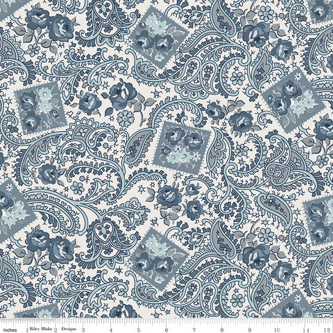 NEW!  Cream Tranquility Paisley Print (C9601 Cream)