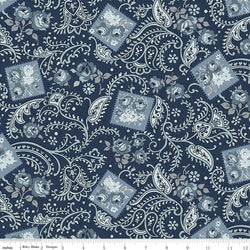 COMING SOON! Navy Tranquility Paisley Print (C9601 Navy)