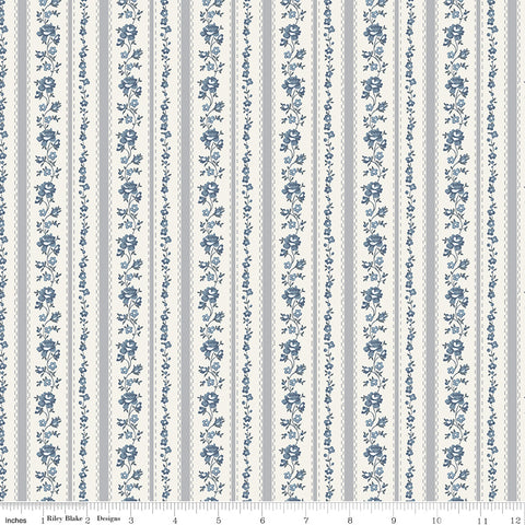 NEW!  Gray Tranquility Stripe Print (C9603 Gray)