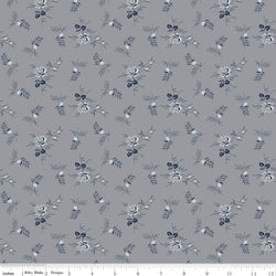NEW!  Gray Tranquility Rose Stems Print (C9604 Gray)
