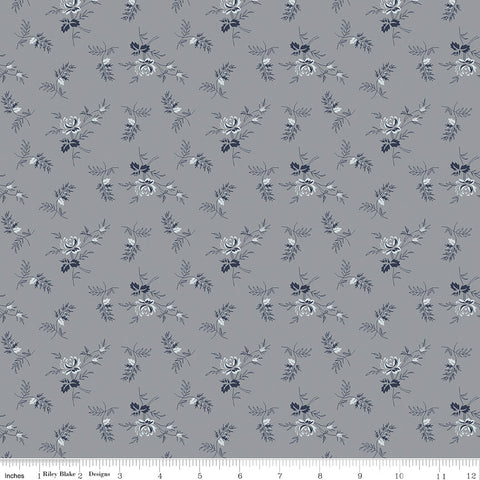 COMING SOON! Gray Tranquility Rose Stems Print (C9604 Gray)
