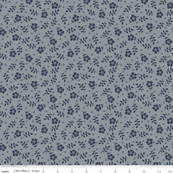COMING SOON! Gray Tranquility Flowers Print (C9607 Gray)