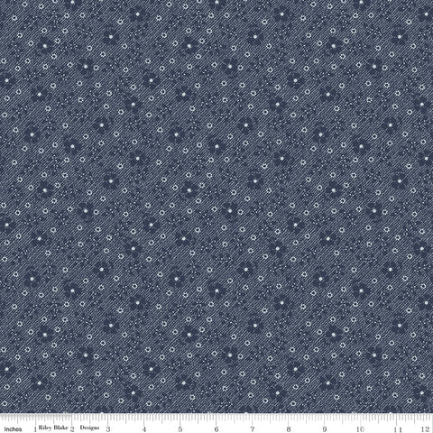 COMING SOON! Navy Tranquility Flowers Print (C9607 Navy)