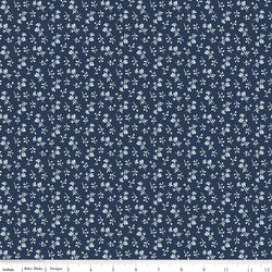 COMING SOON! Navy Tranquility Blossoms Print (C9608 Navy)