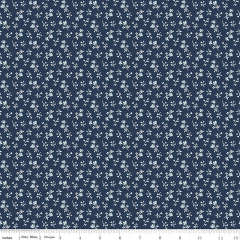 NEW!  Navy Tranquility Blossoms Print (C9608 Navy)