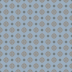 Charming Blue Diamonds Print (C6656 Blue)