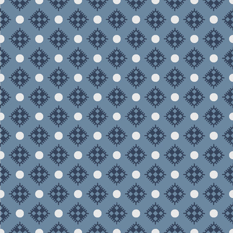 NEW!  Charming Navy Diamonds Print (C6656 Navy)