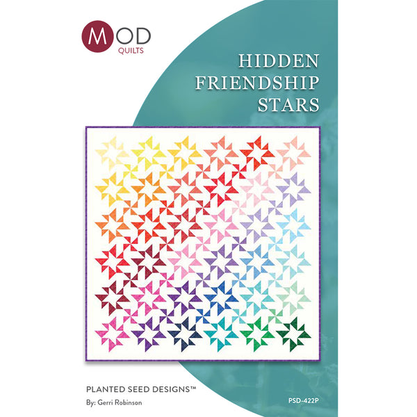 NEW! Hidden Friendship Stars Quilt Pattern (PSD-422P)