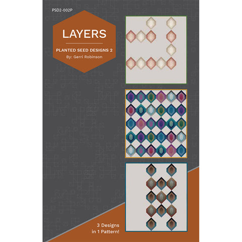 NEW! Layers Quilt Pattern (PSD2-002P)