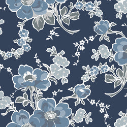 NEW!  Charming Navy Main Floral Print - C6650 NAVY