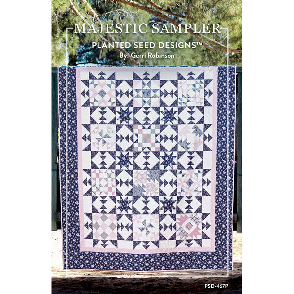 COMING SOON! Majestic Sampler Quilt Pattern (PSD-467P)