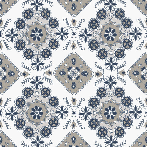 NEW!  Charming Taupe Medallion Print - C6653 TAUPE