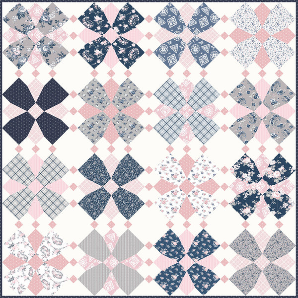 COMING SOON! Whirly Blooms Quilt Pattern (PSD-465P)