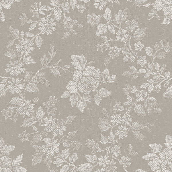 Charming Taupe Rose Floral Print (C6651 Taupe)