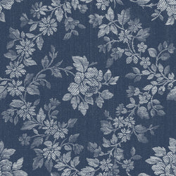 NEW!  Charming Navy Rose Floral Print - C6651 NAVY
