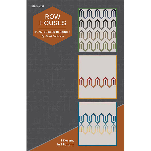 NEW! Row Houses Quilt Pattern (PSD2-004P)