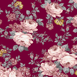 COMING SOON!  Burgundy Exquisite Main Print with Gold Sparkle (SC10700 Burgundy)