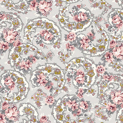 COMING SOON!  Gray Exquisite Paisley with Gold Sparkle (SC10701 Gray)