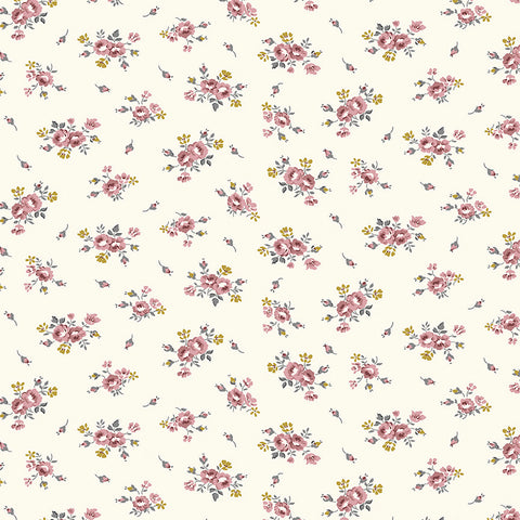 COMING SOON!  Cream Exquisite Blooms with Gold Sparkle (SC10703 Cream)