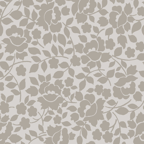 Charming Taupe Vines Print (C6655 Taupe)