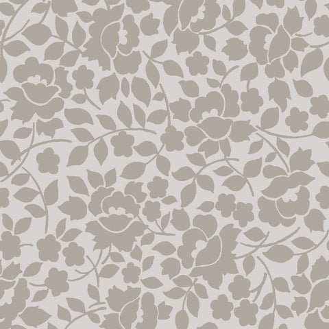NEW!  Charming Taupe Vines Print (C6655 Taupe)