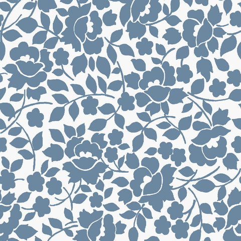 NEW!   Charming White Vines Print - C6655 WHITE