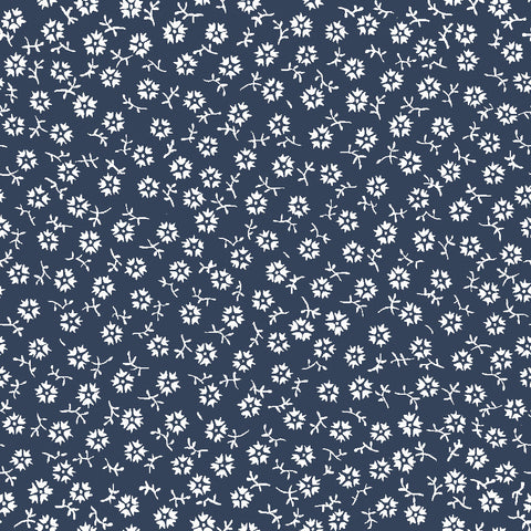 NEW!  Charming Navy Tossed Print - C6657 NAVY