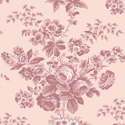 COMING SOON!  Blush Exquisite Floral Wide Back (WB10709 Blush)