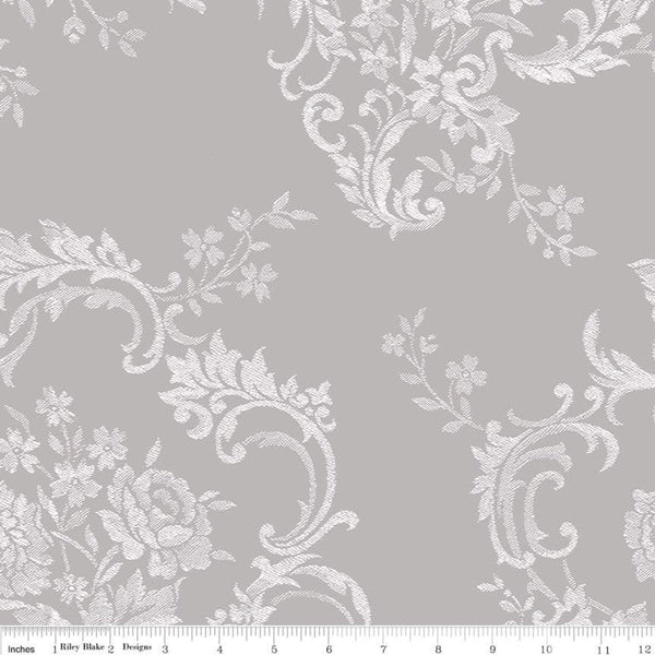 COMING SOON! Majestic Wideback Gray Damask Print (WB8148 Gray)