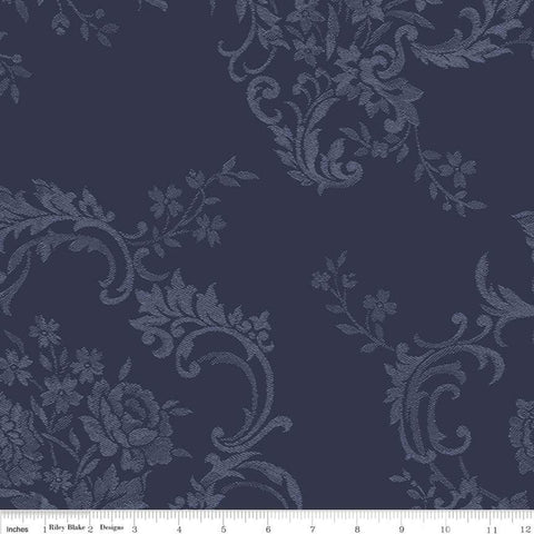 COMING SOON! Majestic Wideback Navy Damask Print (WB8148 Navy)