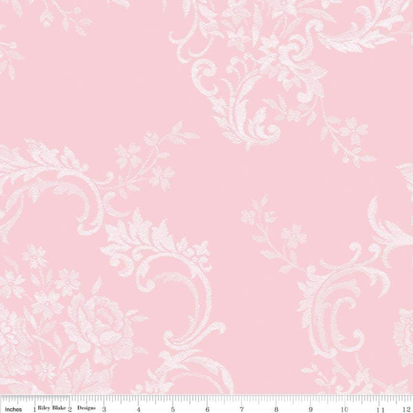 COMING SOON! Majestic Wideback Pink Damask Print (WB8148 Pink)