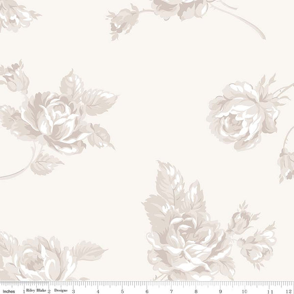 "Serenity 108"" Wide Back Cream Print (WB8818 Cream)"