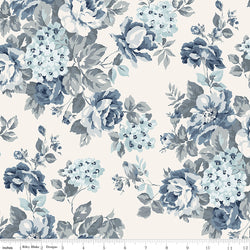 COMING SOON! Cream Tranquility Floral Wide Back Print (WB9609 Cream)