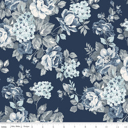 COMING SOON! Navy Tranquility Floral Wide Back Print (WB9609 Navy)