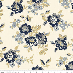 C5880- Faded Memories Cream Main Floral Print - Half Yard