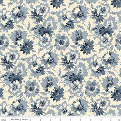 Faded Memories Blue Petals Print (C5881 Blue)
