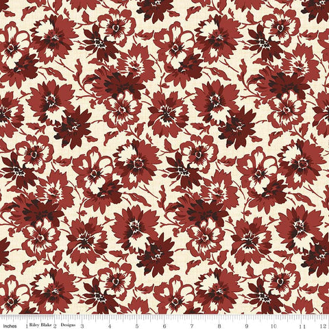 Faded Memories Red Petals Print (C5881 Red)
