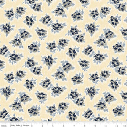C5882- Faded Memories Cream Tossed Floral Print -  Half Yard
