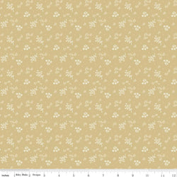 C5883-Faded Memories Gold Bouquet Print - Half Yard