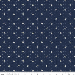 Faded Memories Navy Small Flower Print (C5885 Navy)