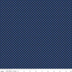 Riley Blake Swiss Dot Navy (C670-21)