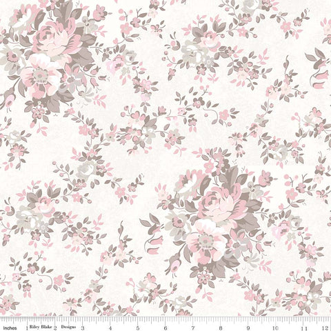 New! Rose Garden Cream Main Print (C7680 Cream)