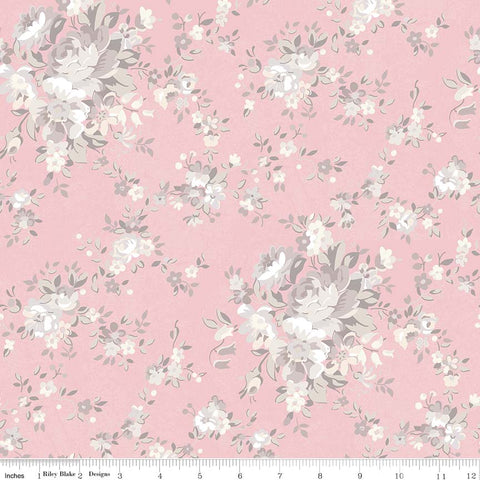 New! Rose Garden Pink Main Print (C7680 Pink)