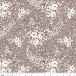 New! Rose Garden Taupe Paisley Print (C7681 Taupe)